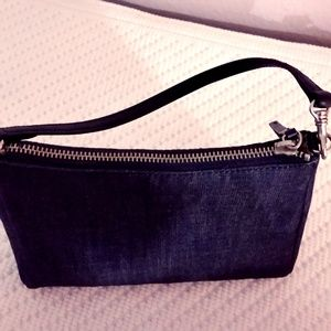 BANANA REPUBLIC Denim and Leather Bag in Navy